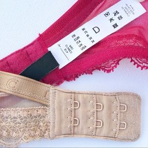 Chantelle Intimates & Sleepwear - Lot of 2 Chantelle C Chic Bras 34D Red Tan 3641